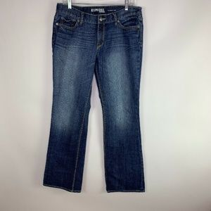 Express Womens Jeans Eva Boot Cut Mid Rise Q12